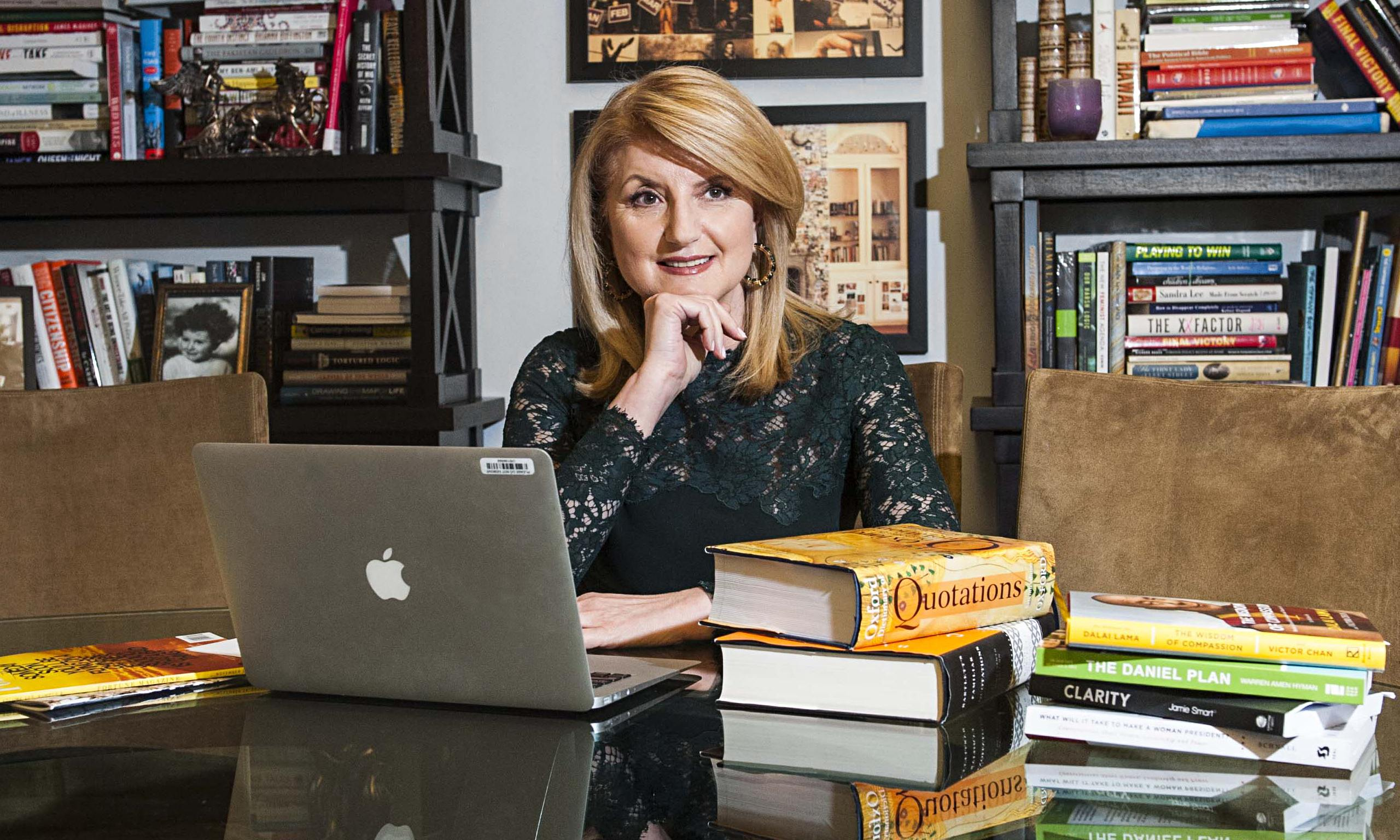 Arianna Huffington In Her New York Office. 'We Can Cultivate Our Own Strength And Resilience.'