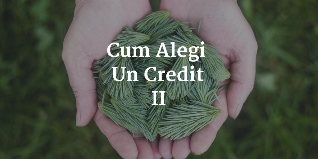 Cum Alegi Un Credit